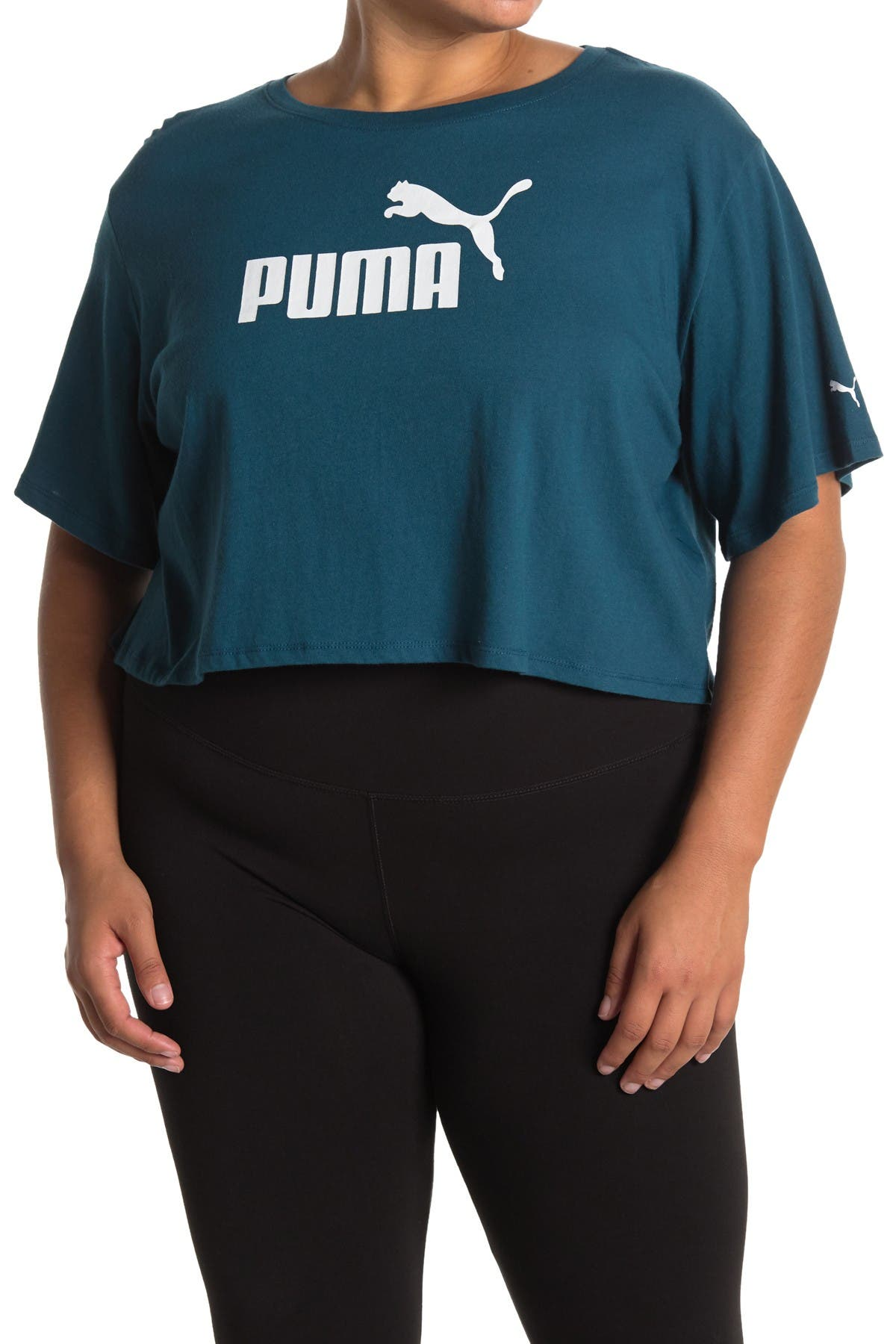 Image of PUMA Essentials Cropped Logo Tee