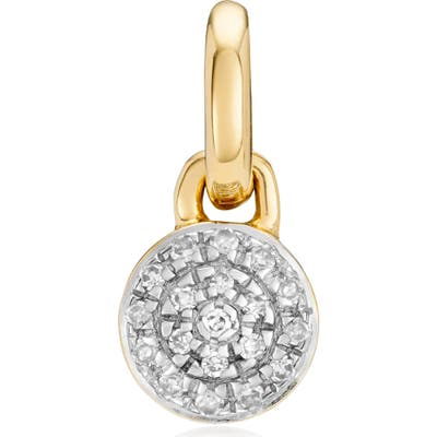 Monica Vinader Fiji Mini Diamond Button Pendant Charm