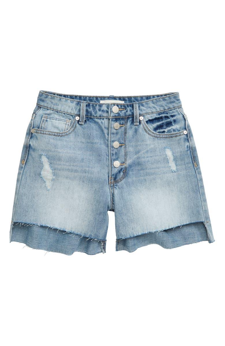 HABITUAL GIRL Kirsty Cutoff Denim Shorts, Main, color, 400