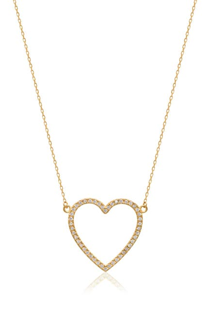 Image of Gabi Rielle 14K Gold Plated Open Heart Pendant Necklace