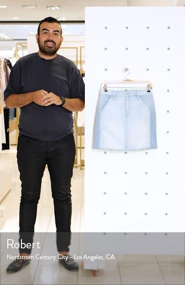 Two-Tone Denim Miniskirt, sales video thumbnail