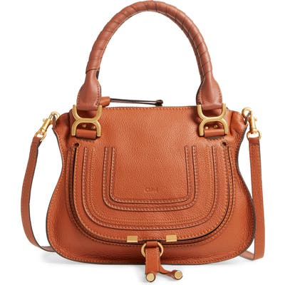 Marcie Small Double Carry Bag - Brown