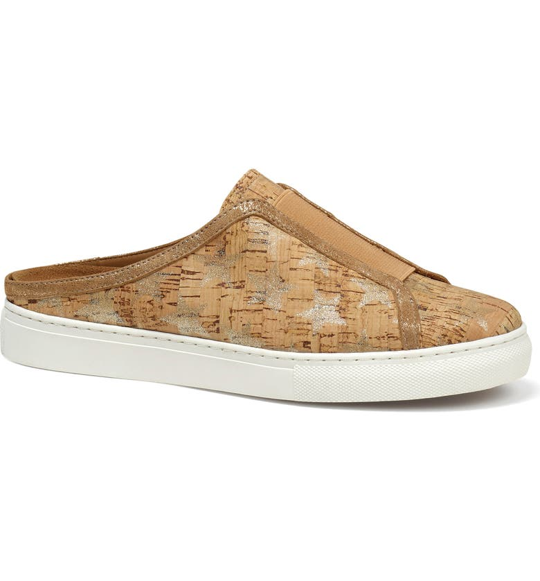 TRASK Lindy Mule Sneaker, Main, color, NATURAL/ GOLD STAR LEATHER