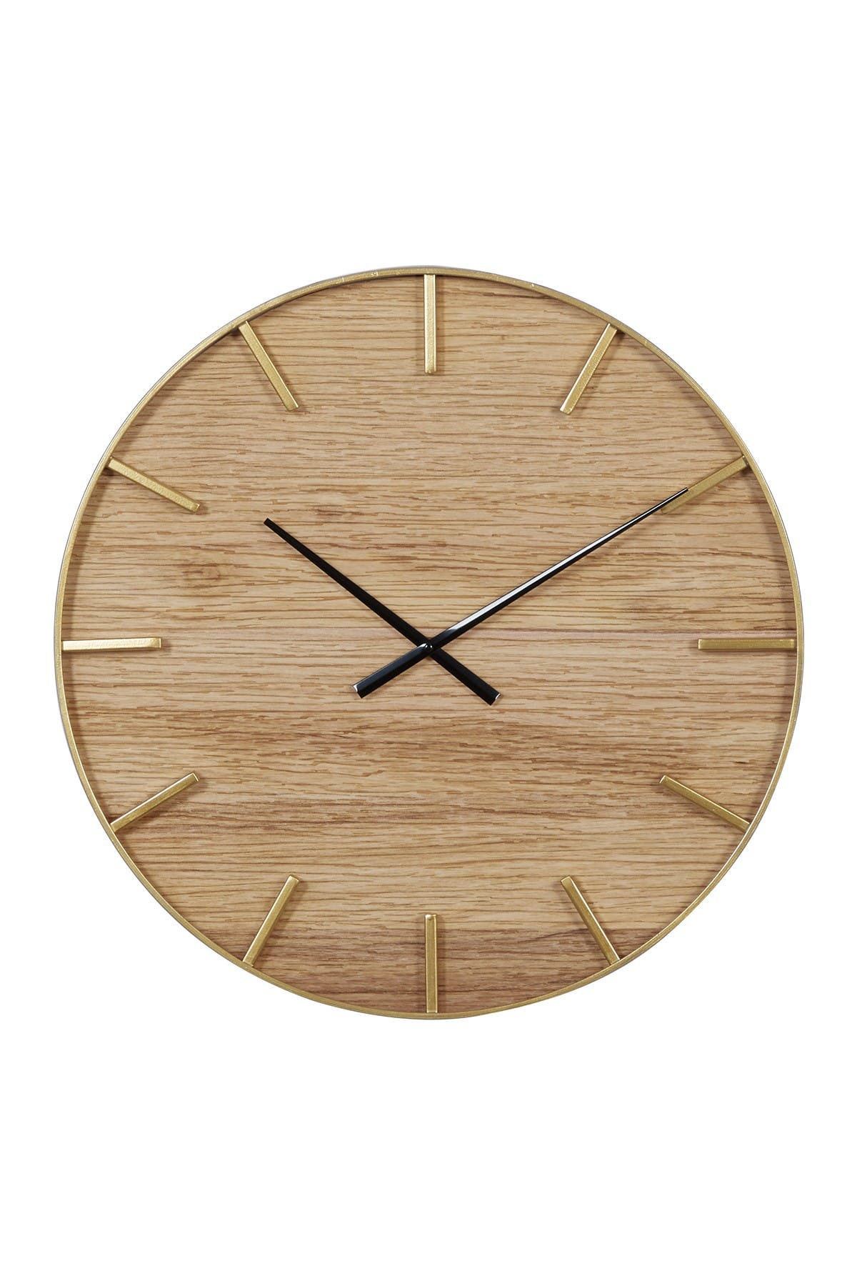 Willow Row Round Wooden Wall Clock - 24\\\
