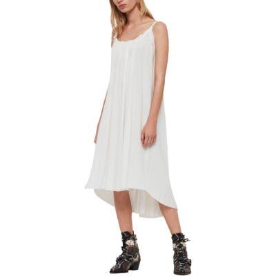 Allsaints Romey Sleeveless High/low Dress, White