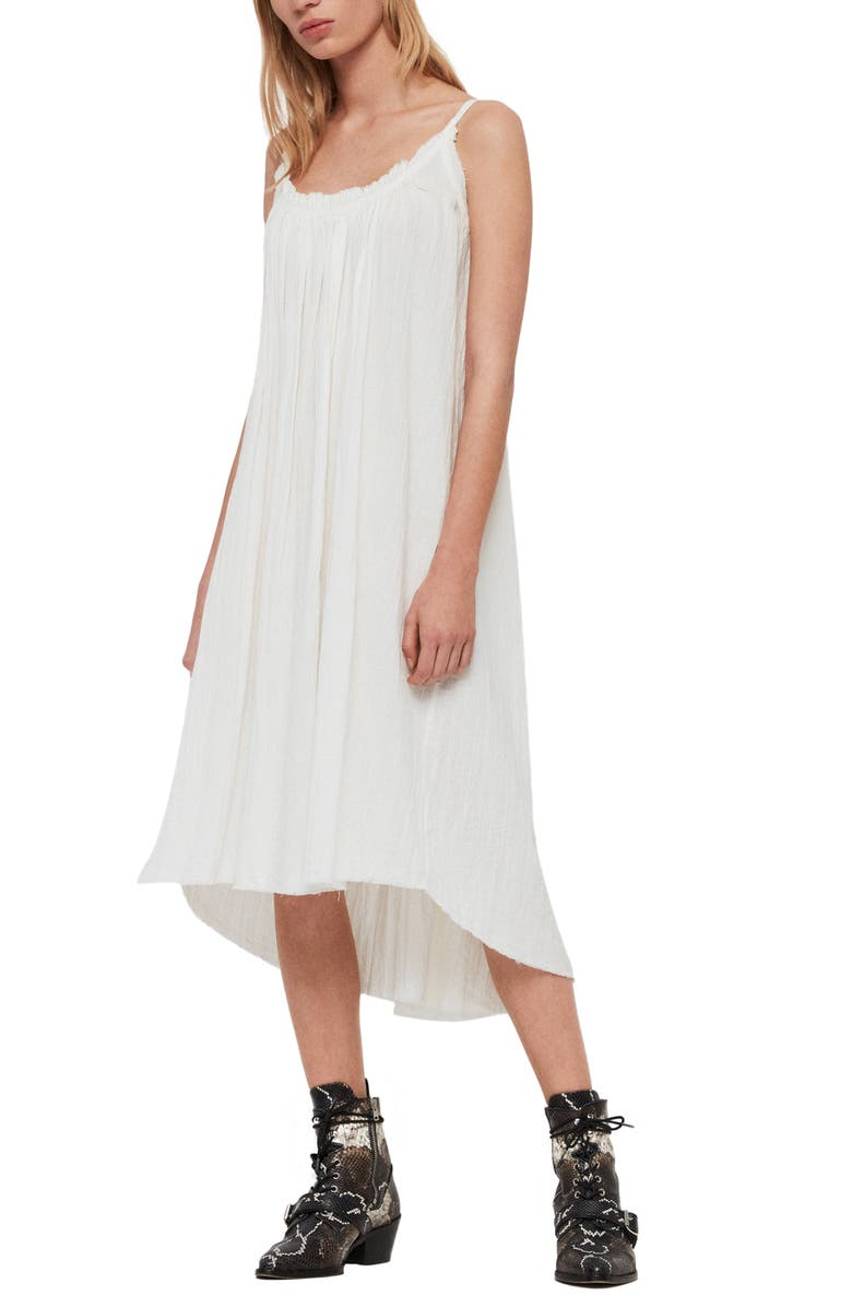 ALLSAINTS Romey Sleeveless High/Low Dress, Main, color, 111