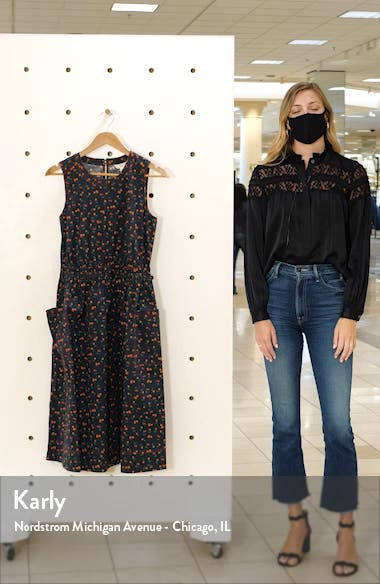 Print Sleeveless Fit & Flare Dress, sales video thumbnail