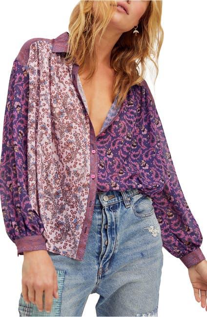 Image of Free People Dani Button-Up Shirt