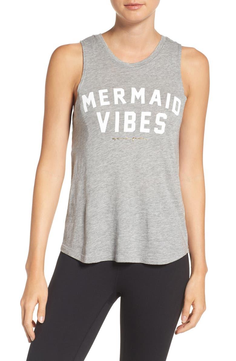 SPIRITUAL GANGSTER Mermaid Vibes Jersey Musle Tee, Main, color, 030