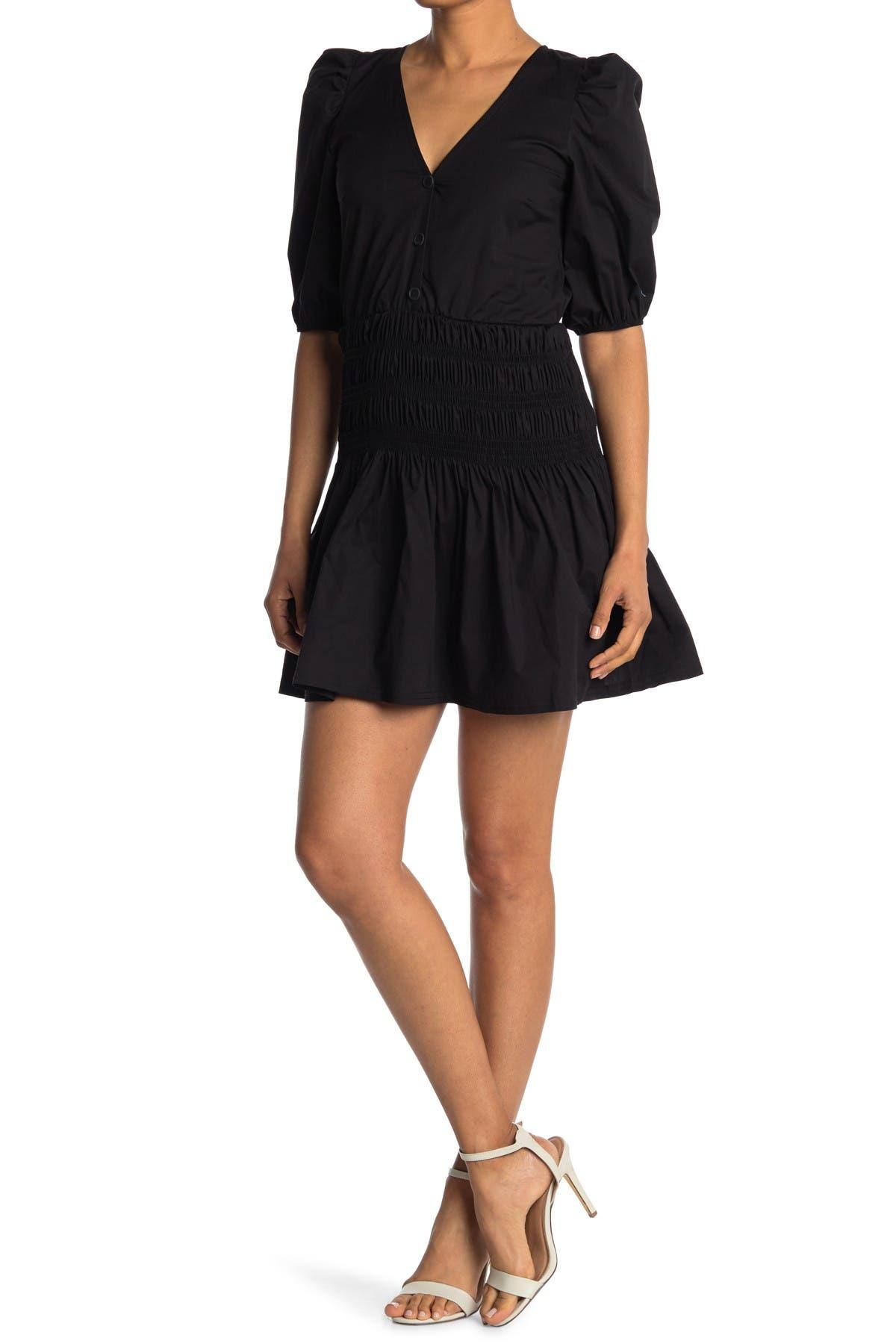 Image of Velvet Torch Poplin Smock Waist Dress