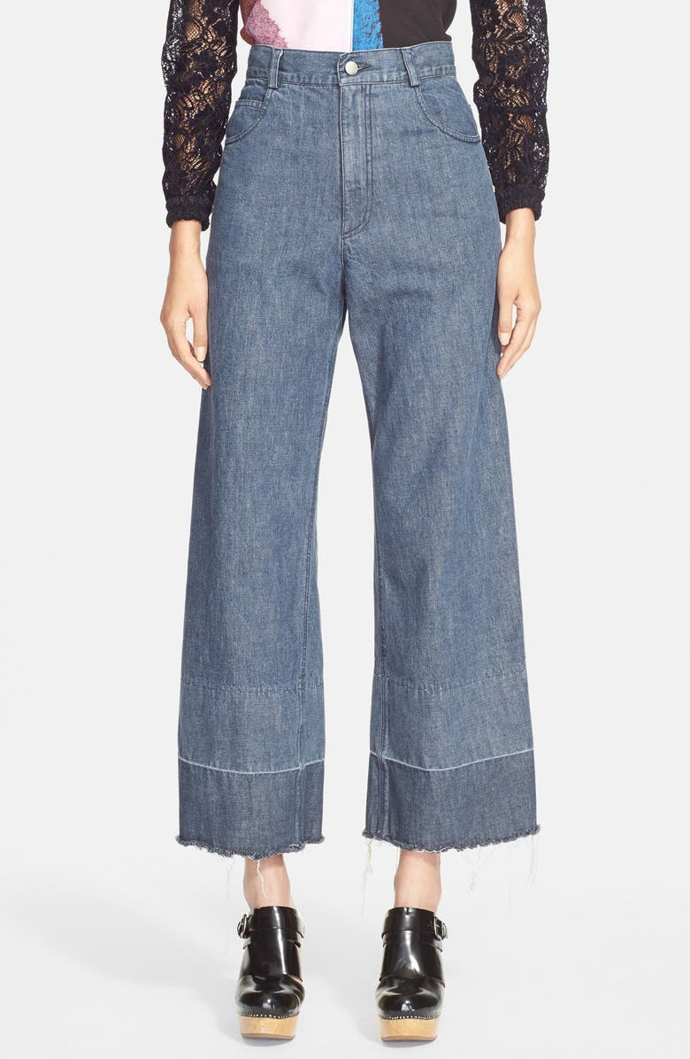 RACHEL COMEY 'Legion' Wide Leg Embroidered Denim Pants, Main, color, 020