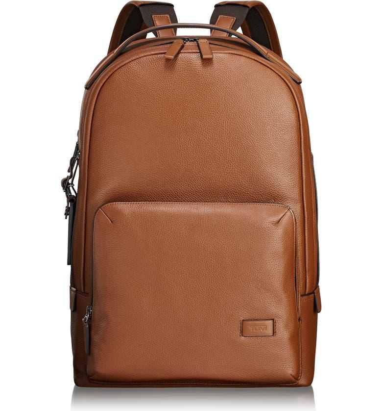 TUMI Harrison - Webster Backpack, Main, color, UMBER PEBBLED