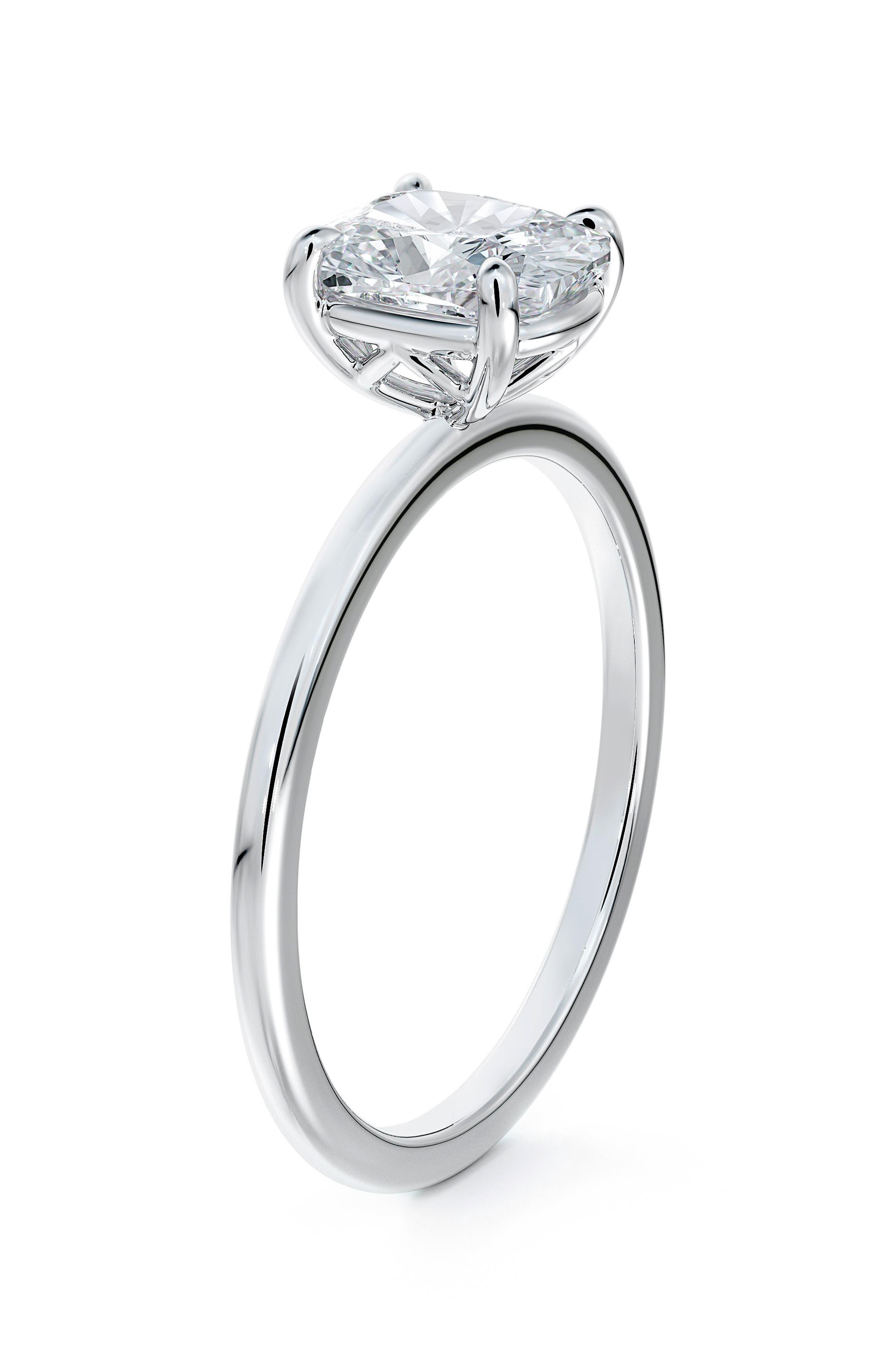 Delicate Icon(TM) Setting Cushion Diamond Engagement Ring