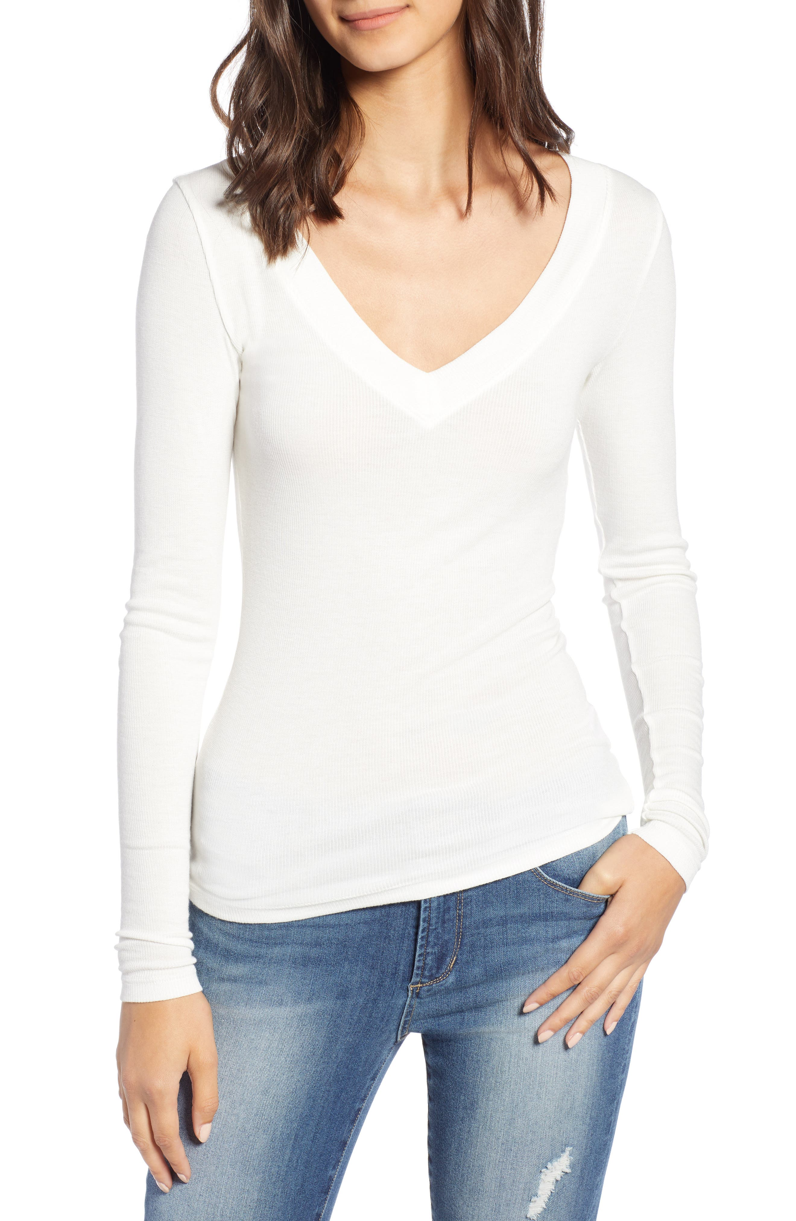 ,                             Fitted V-Neck Tee,                             Main thumbnail 13, color,                             900