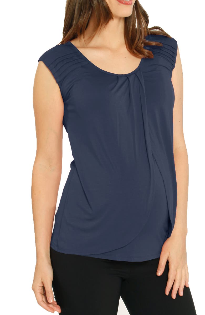 ANGEL MATERNITY Nursing Top, Main, color, BLUE