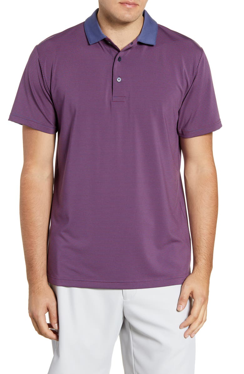 MIZZEN+MAIN Phil Mickelson Stripe Performance Golf Polo, Main, color, RED