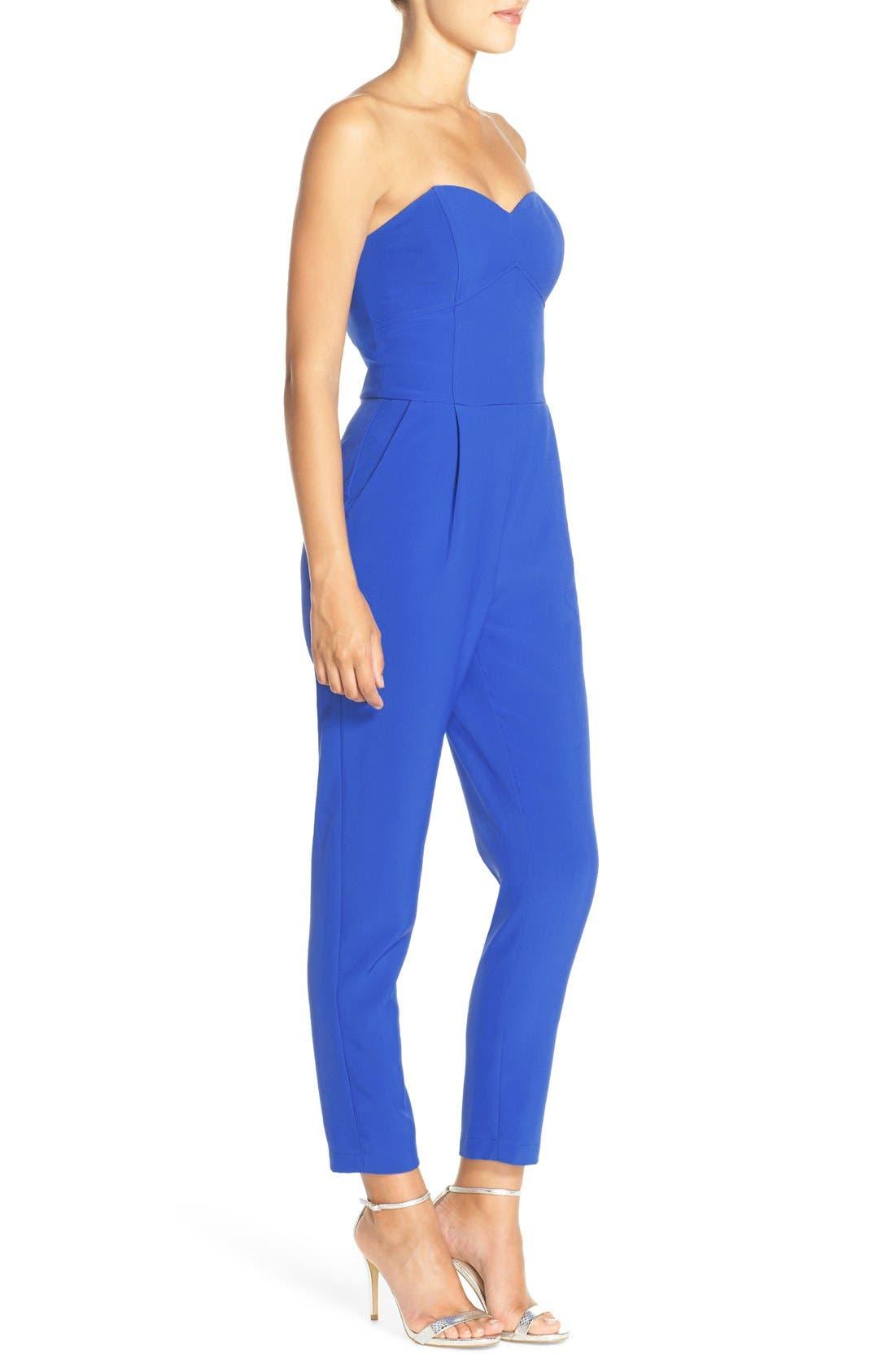 ,                             Strapless Slim Leg Jumpsuit,                             Alternate thumbnail 24, color,                             400