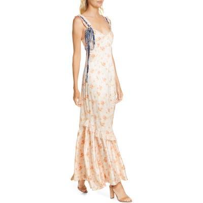 Loveshackfancy Soroya Sleeveless Maxi Dress, Coral