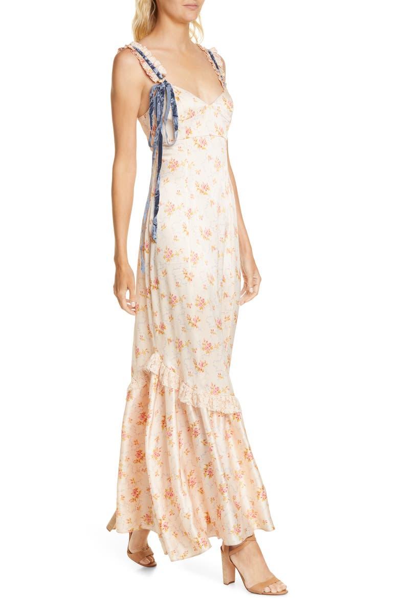 LOVESHACKFANCY Soroya Sleeveless Maxi Dress, Main, color, SCALLOP SHELL