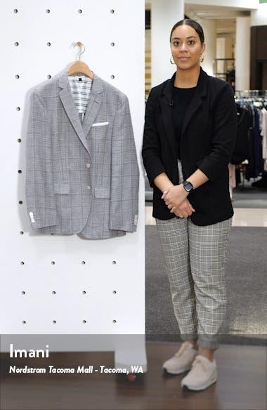 Hartlay Trim Fit Check Wool & Linen Sport Coat, sales video thumbnail
