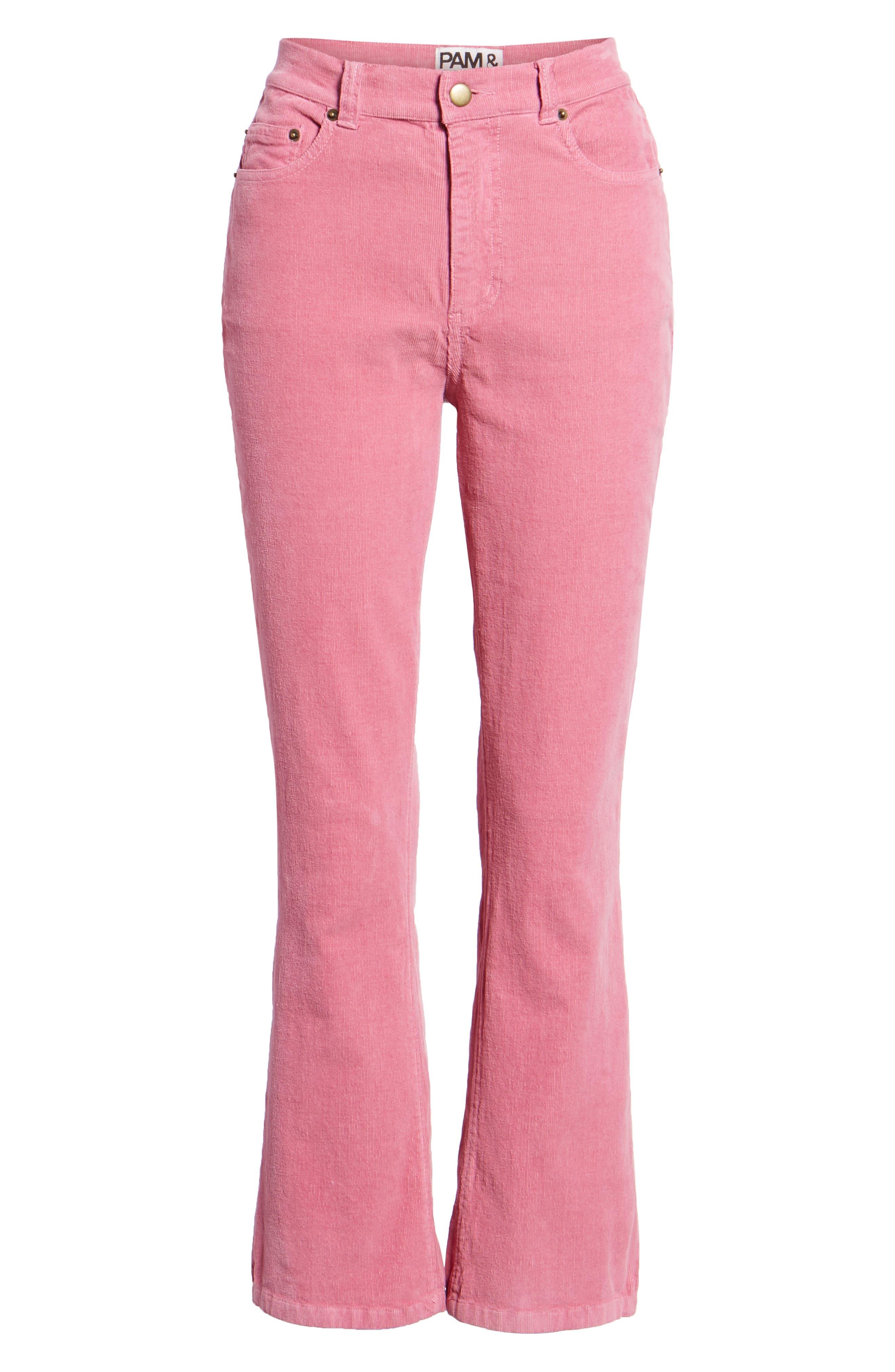 ,                             Corduroy Slim Crop Flare Pants,                             Alternate thumbnail 13, color,                             659