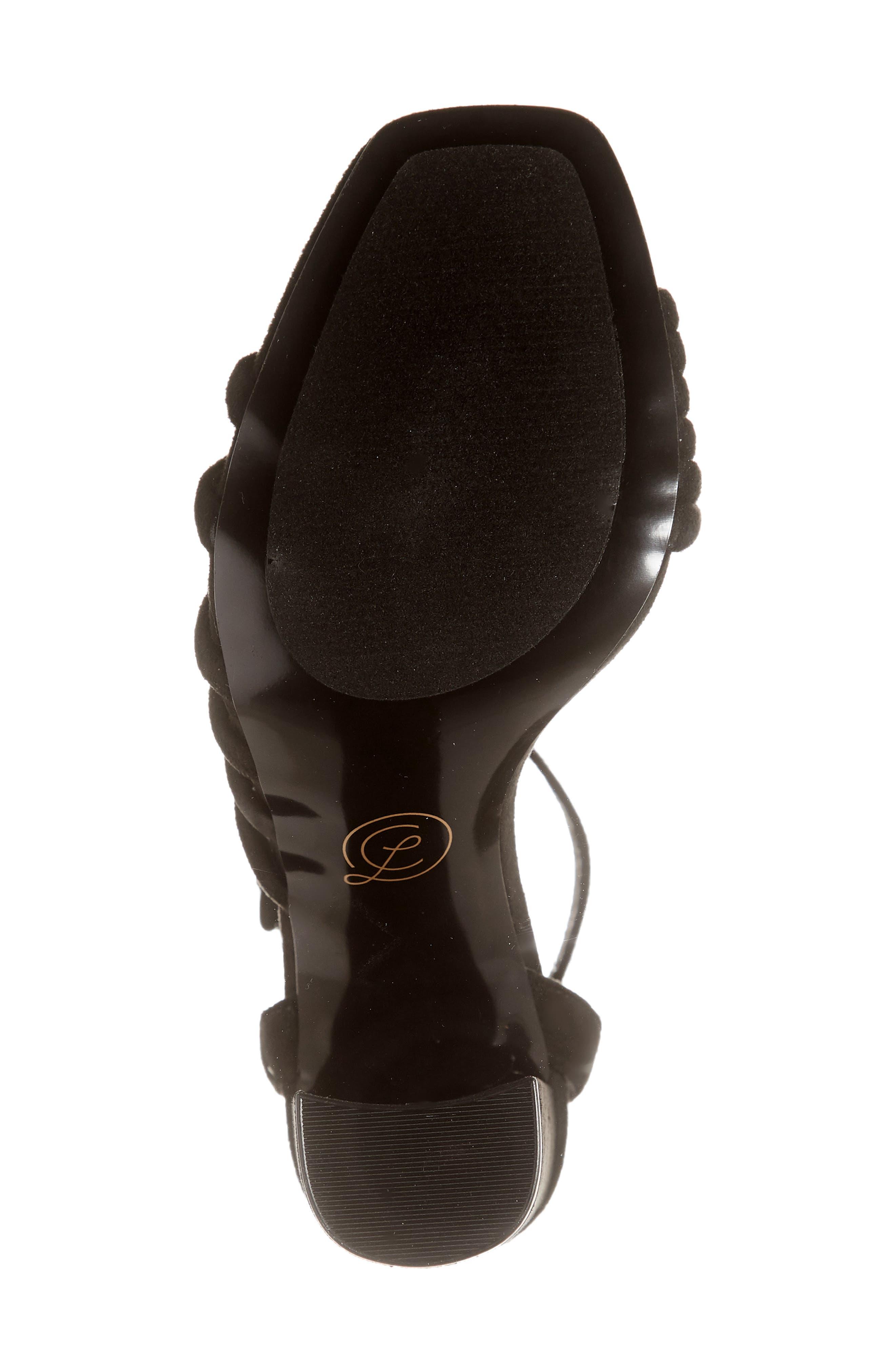 ,                             Jonah Ankle Strap Pump,                             Alternate thumbnail 6, color,                             BLACK SUEDE