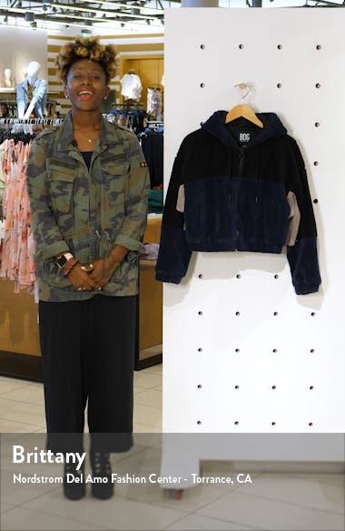 Urban Outfitters Colorblock Crop Fleece Jacket, sales video thumbnail