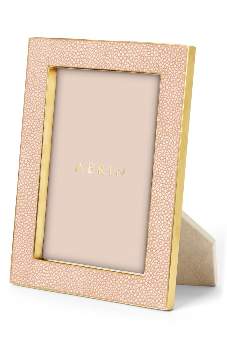 AERIN Shagreen Picture Frame, Main, color, BLUSH