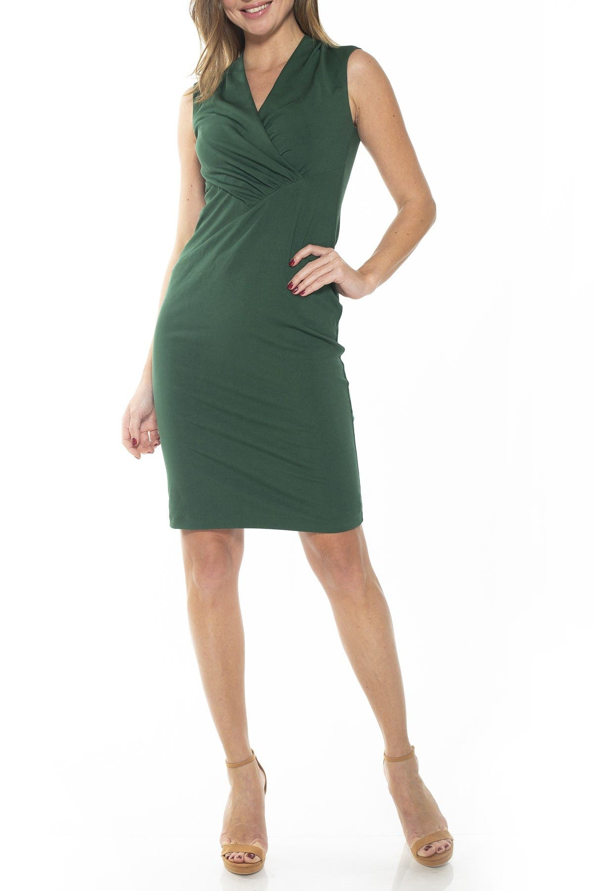 Image of Alexia Admor Cora Ruched Asymmetrical Sheath Dress