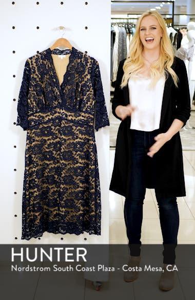 Scalloped Boudoir Lace Sheath Dress, sales video thumbnail