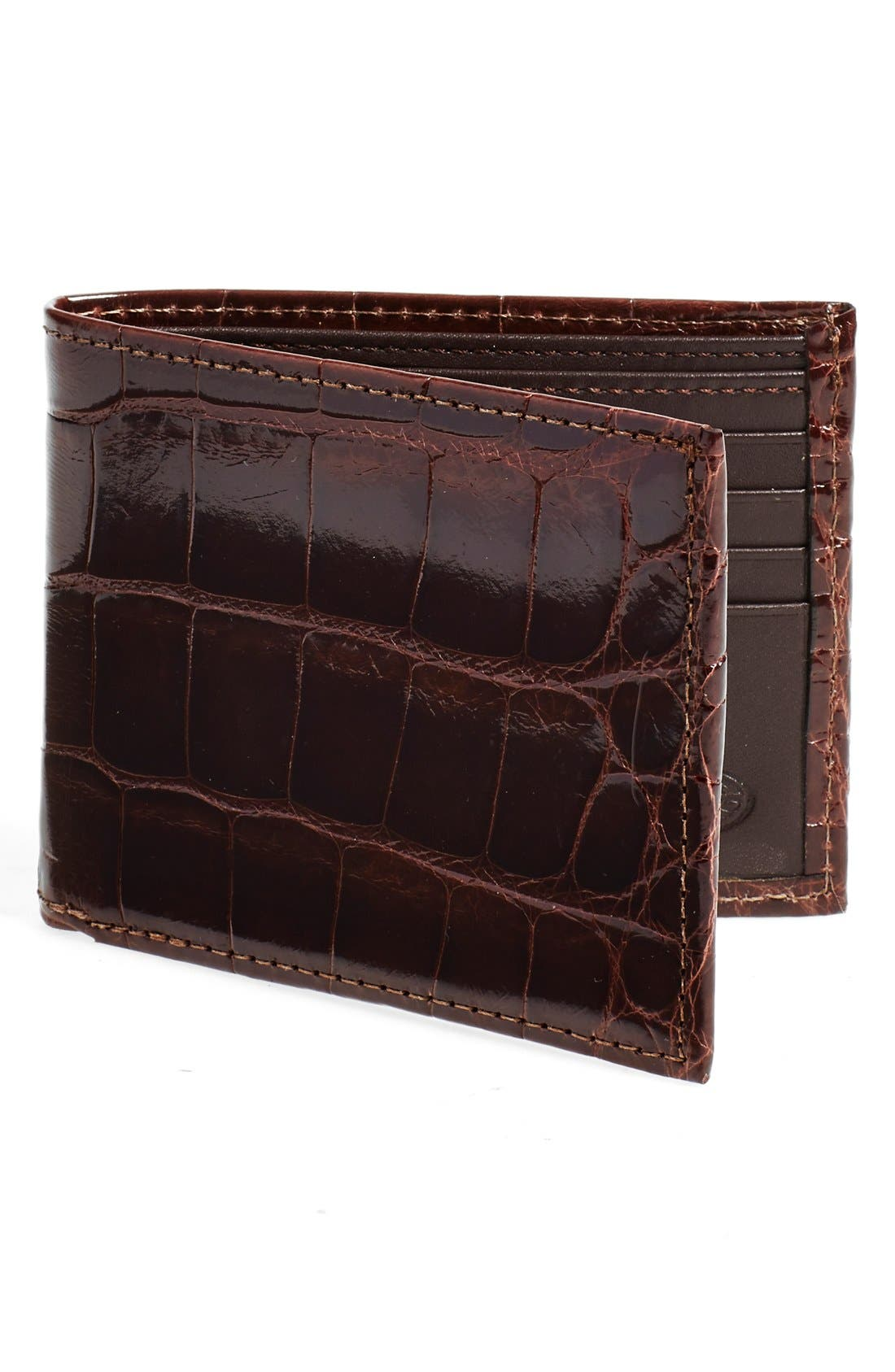 Add an exotic element to your everyday style with a genuine American alligator wallet with space inside for all the essentials. Style Name: Torino Genuine Alligator Wallet. Style Number: 5080397. Available in stores.