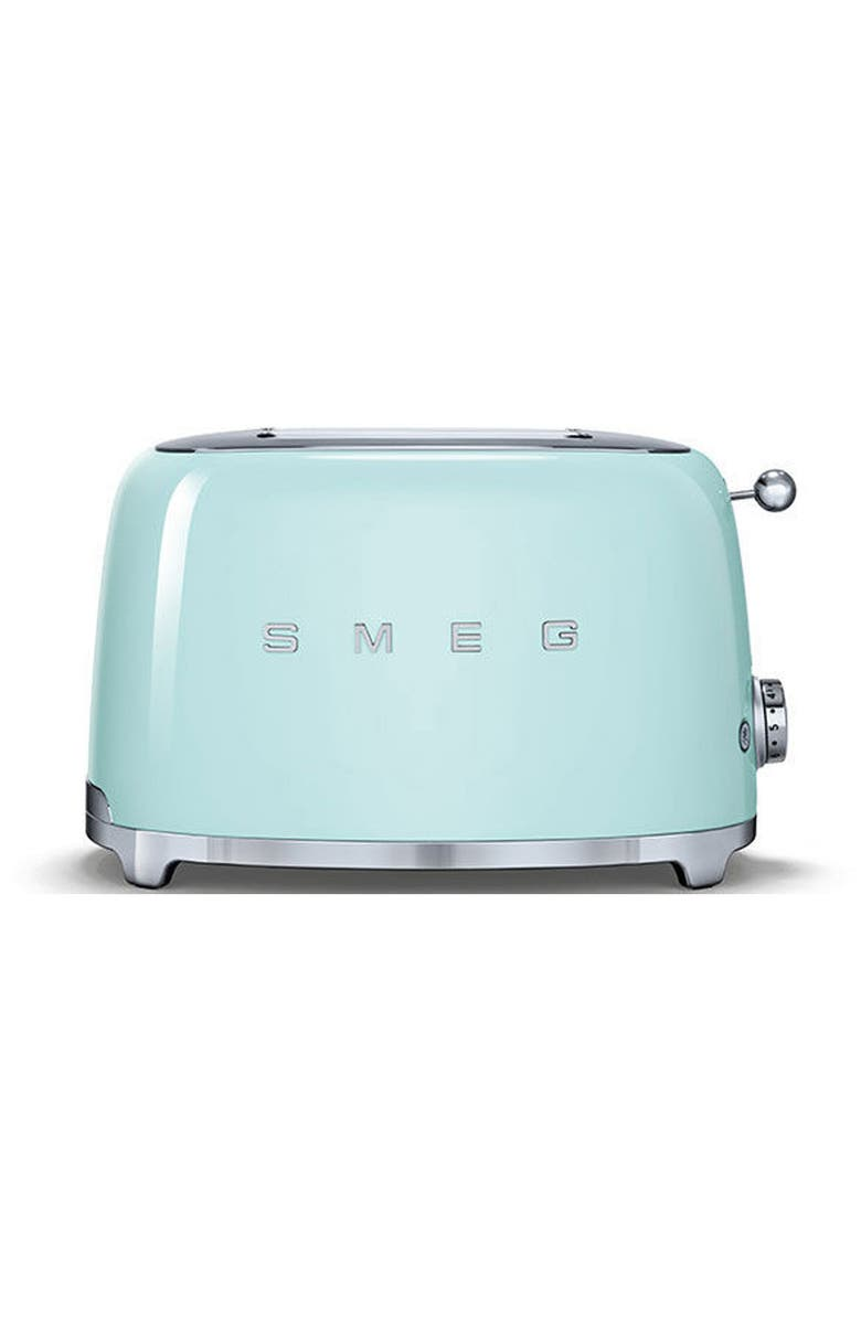 SMEG 50s Retro Style Two-Slice Toaster, Main, color, PASTEL GREEN