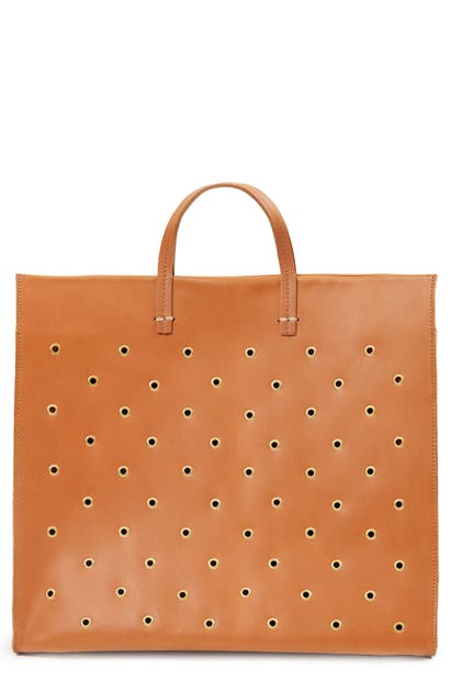 Clare V SIMPLE GROMMET LEATHER TOTE