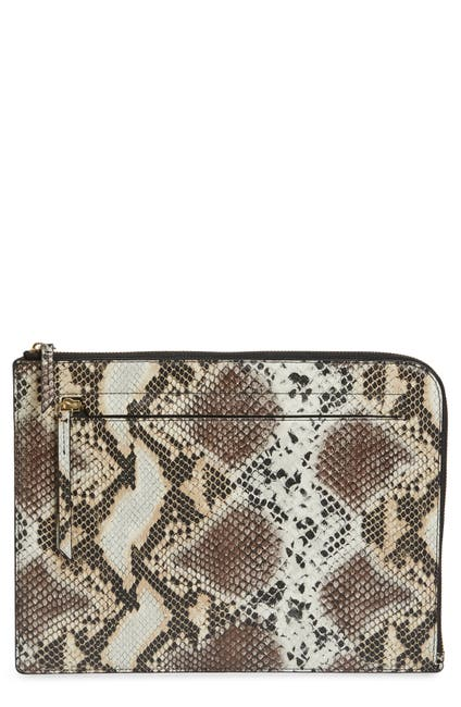 Image of Nordstrom Zip Top Leather Pouch