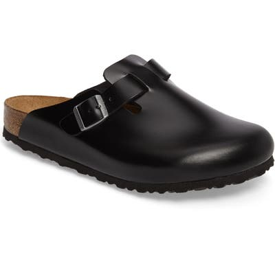 Birkenstock Boston Soft Clog,10.5 - Black
