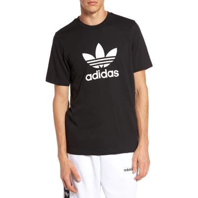 Adidas Originals Trefoil Graphic T-Shirt, Black