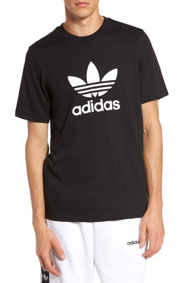 ADIDAS ORIGINALS Trefoil Graphic T-Shirt, Main, color, BLACK