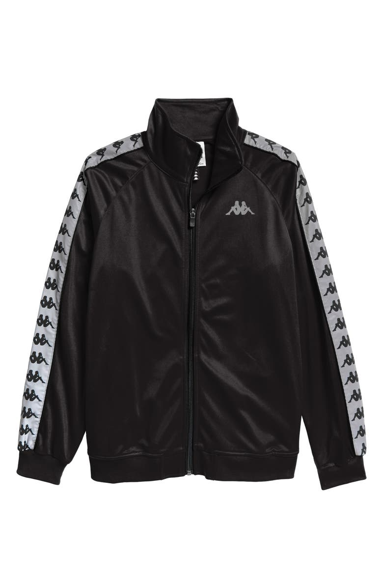 KAPPA 222 Banda Joseph Track Jacket, Main, color, BLACK