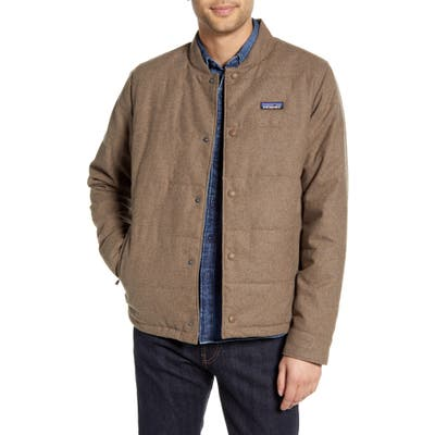 Patagonia Recycled Woolyester Bomber Jacket, Brown
