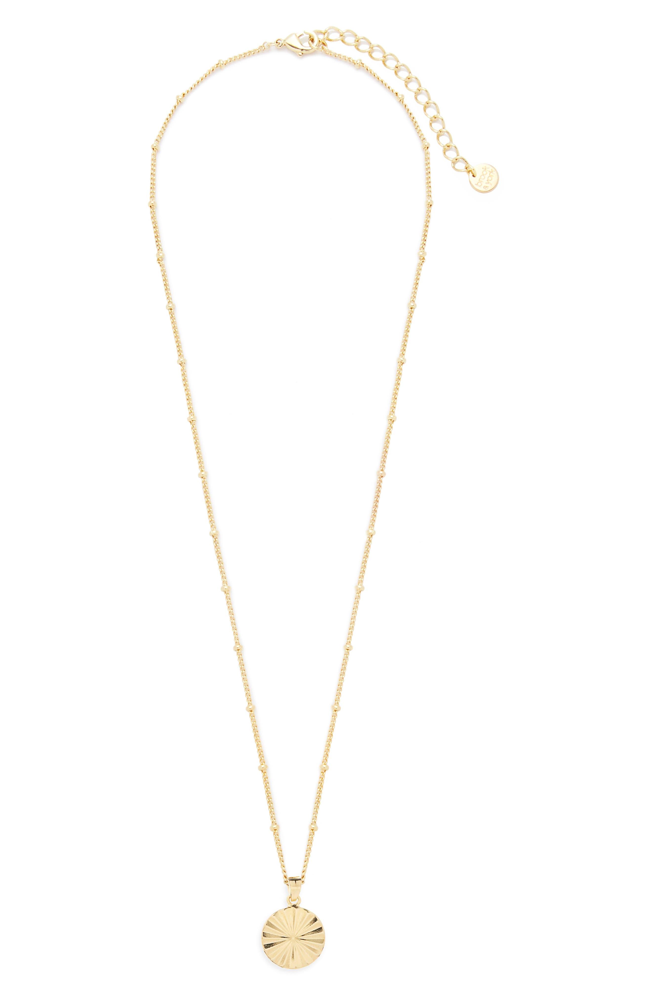 Celeste Sunburst Pendant Necklace