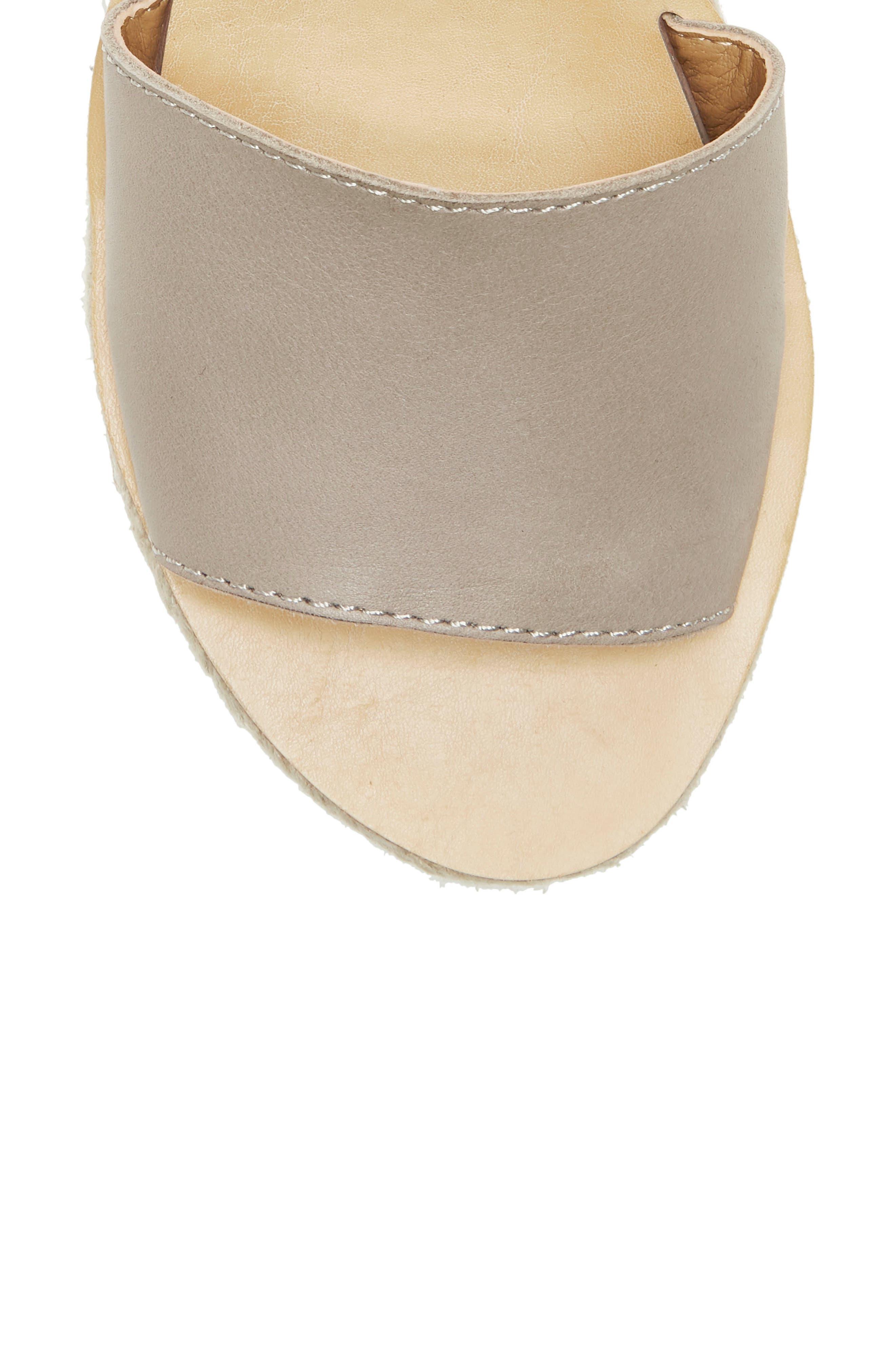 ,                             Joodith Platform Wedge Sandal,                             Alternate thumbnail 8, color,                             CHINCHILLA LEATHER