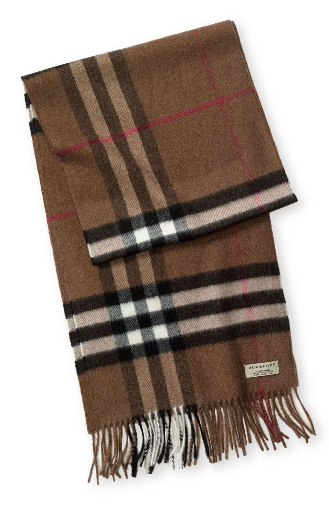 ,                             Heritage Check Cashmere Scarf,                             Main thumbnail 20, color,                             201