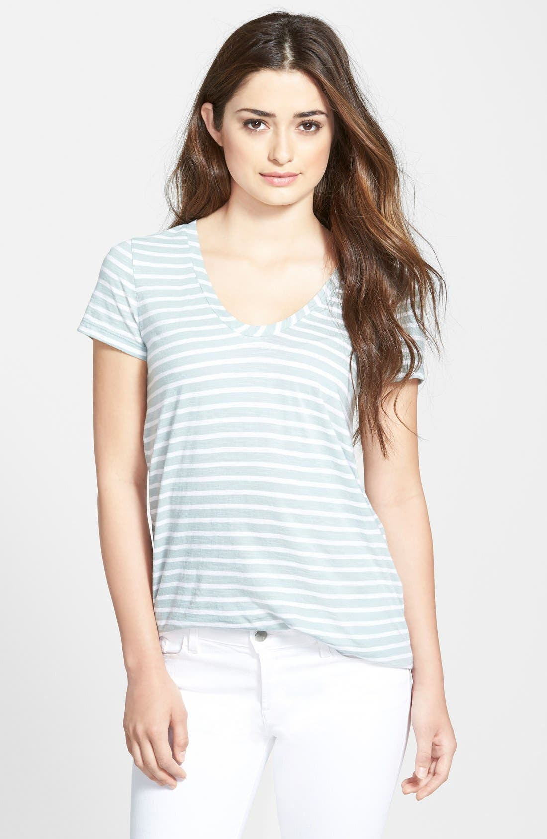 ,                             Relaxed Slub Knit U-Neck Tee,                             Main thumbnail 292, color,                             451