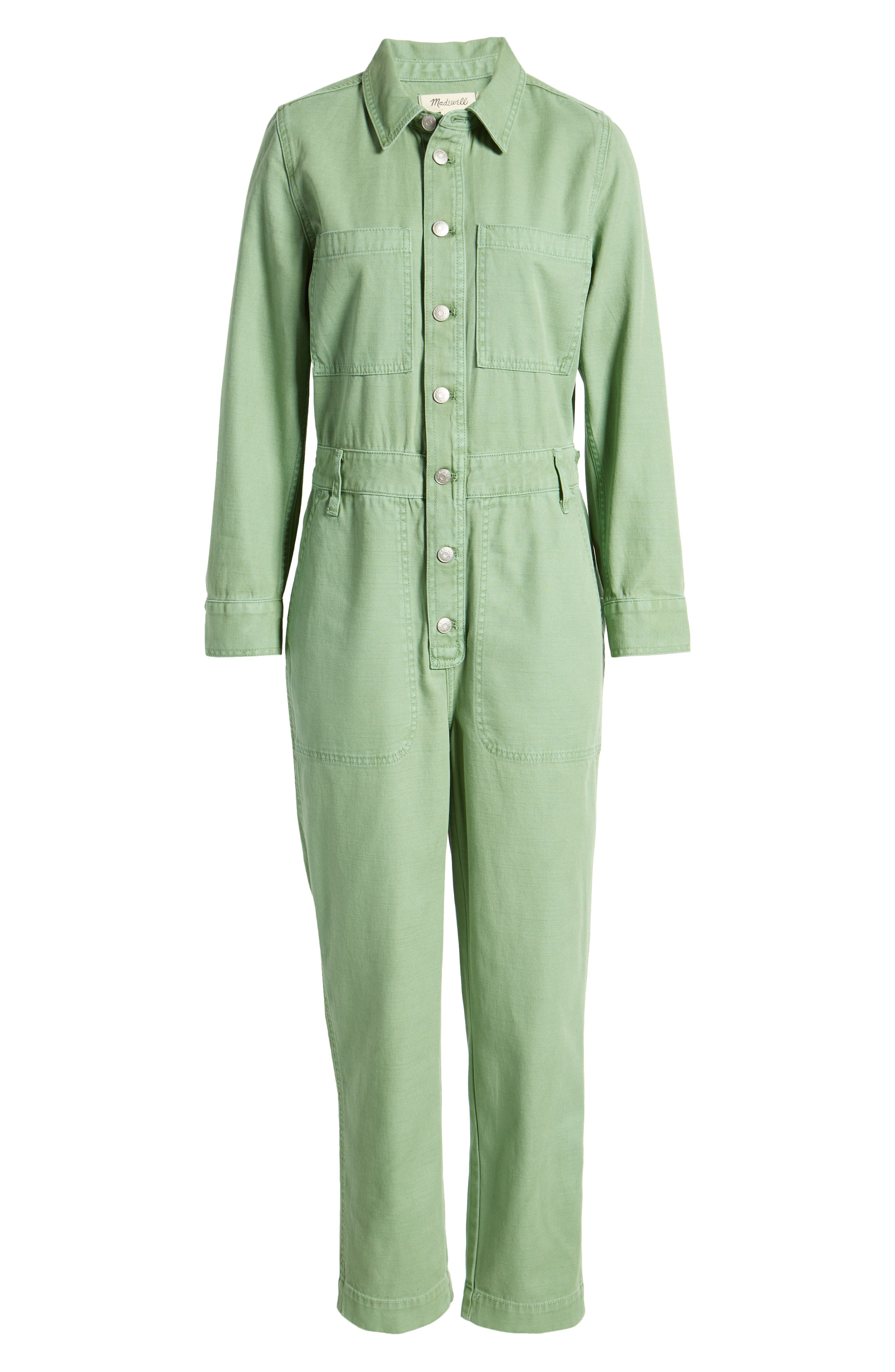 Rosie the Riveter Costume & Outfit Ideas Womens Madewell WomenS Garment Dyed Relaxed Coverall Jumpsuit Size Large - Ivory $148.00 AT vintagedancer.com