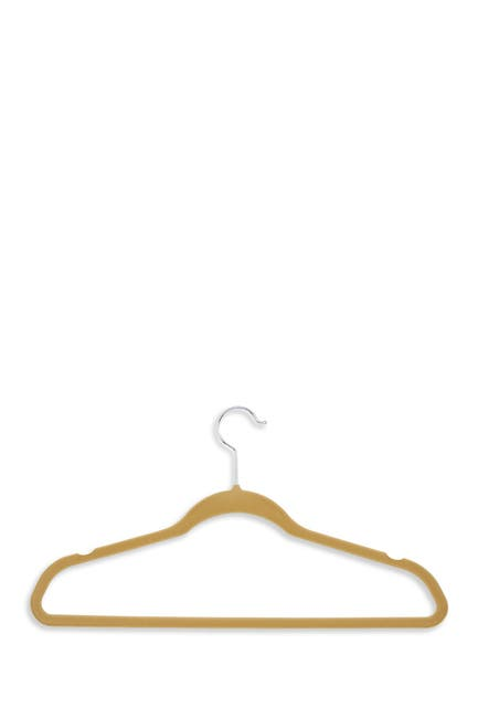 Image of Honey-Can-Do Camel Velvet Touch Hangers - Pack of 50