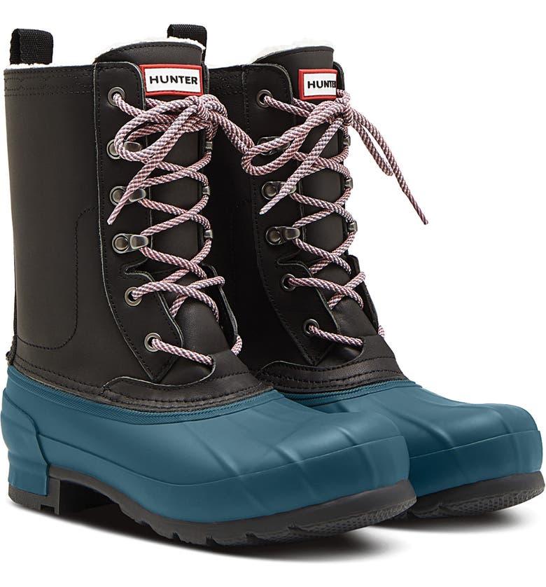 HUNTER Original Pac Waterproof Boot, Main, color, BLACK/ GALVANIZE