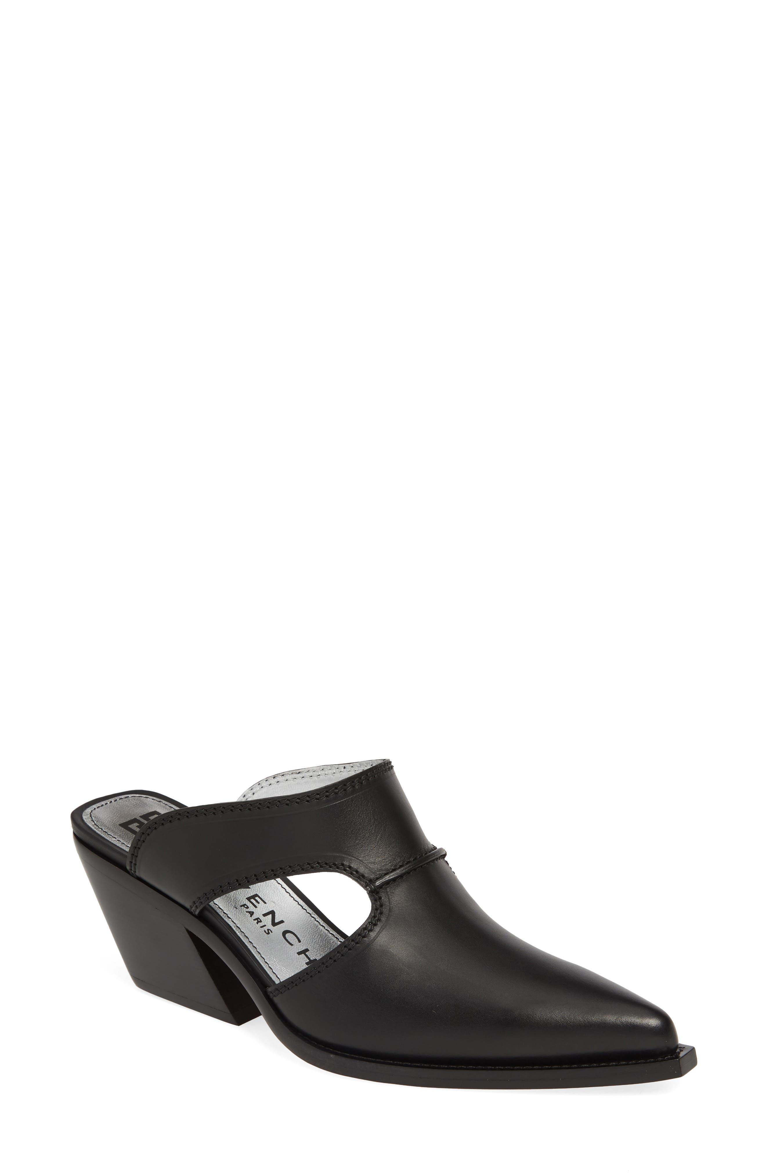 Givenchy Cowboy Mule, Black