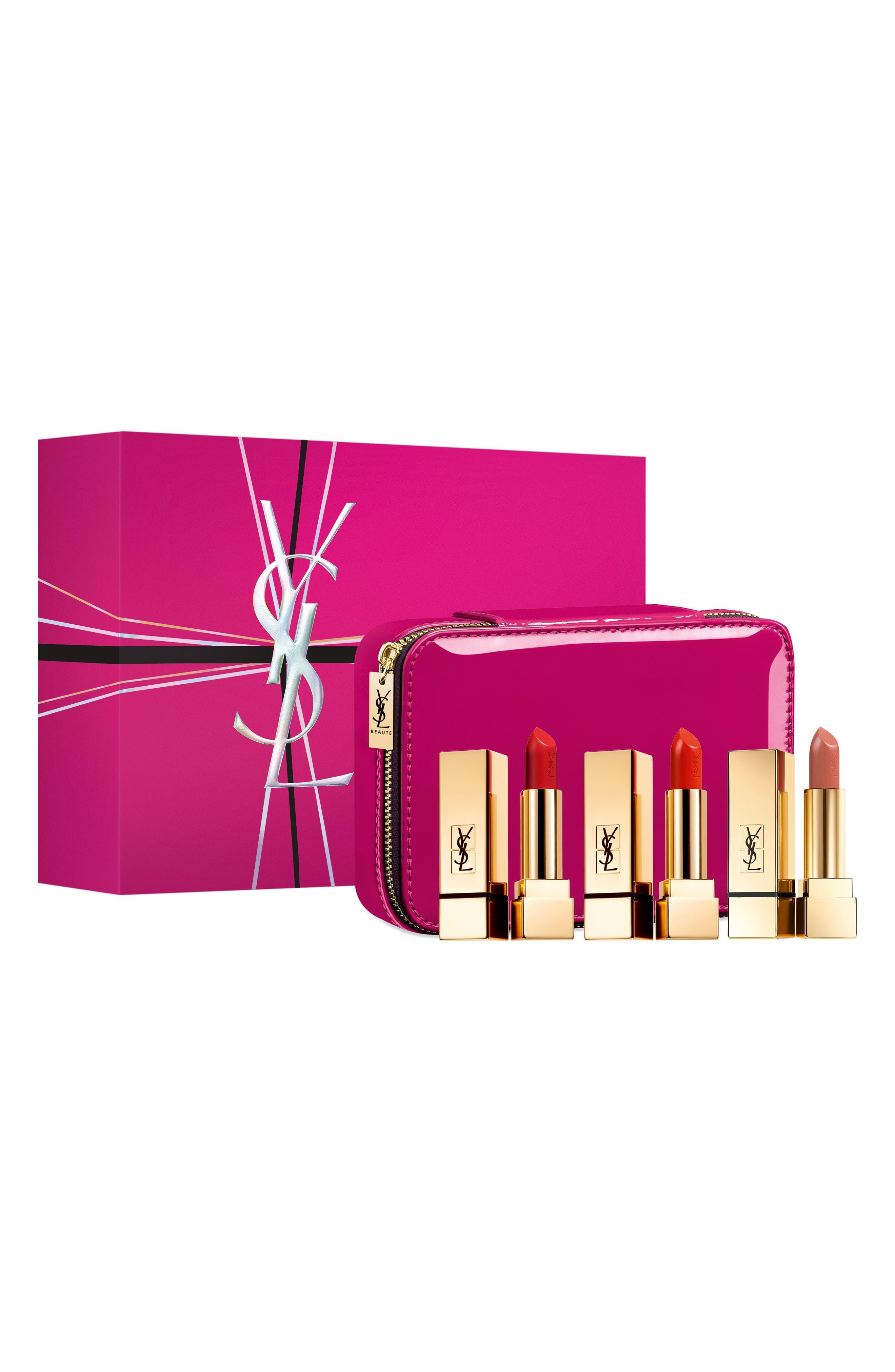 ,                             Rouge Pur Couture Lip Color Trio,                             Main thumbnail 1, color,                             ROUGE PUR COUTURE SET