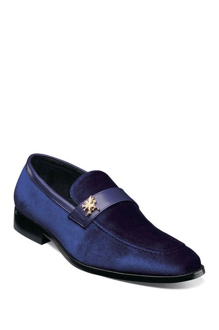 Image of Stacy Adams Bellino Velour Slip-On Loafer