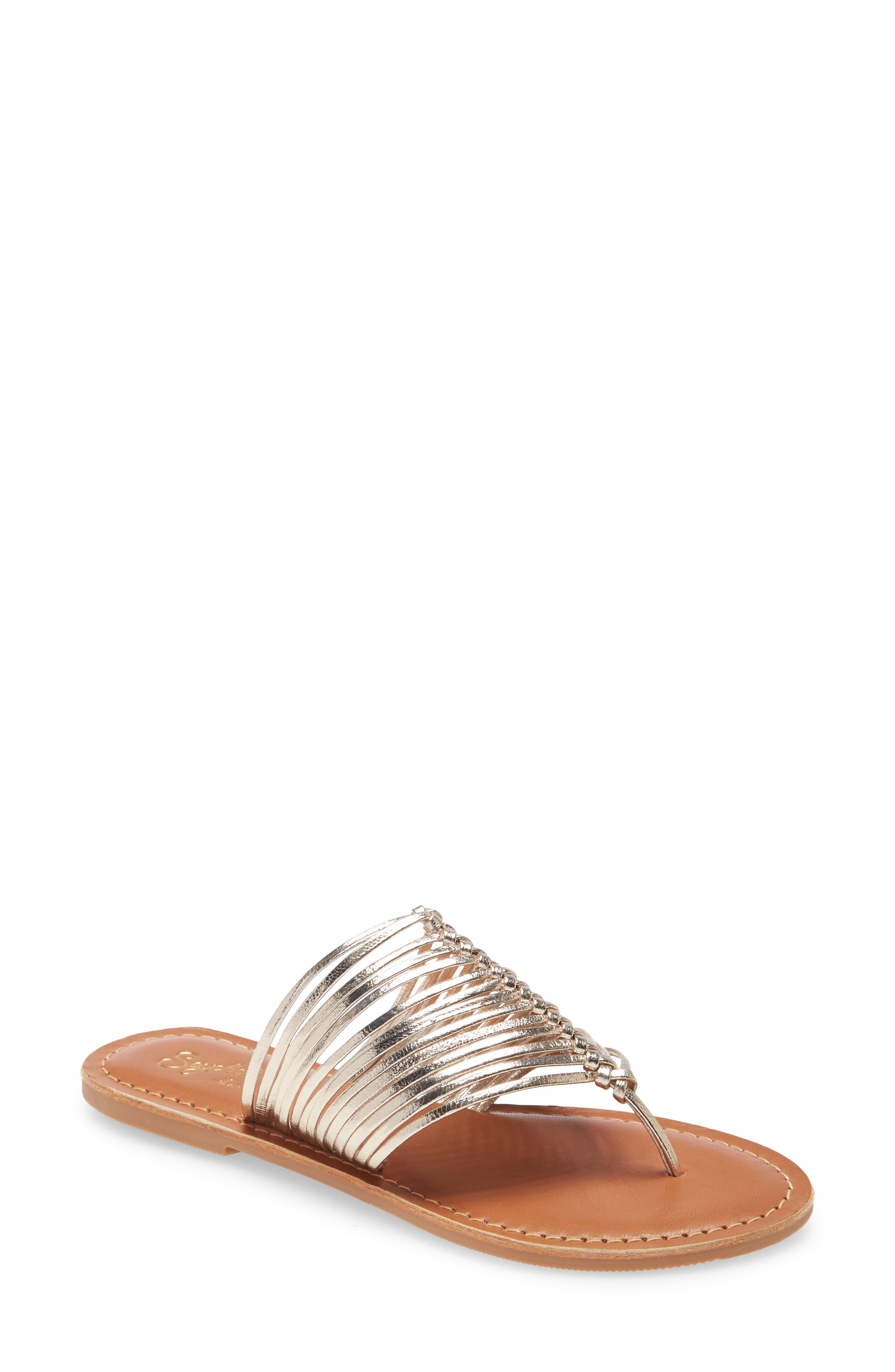 Shimmery straps add a hint of glamour to this quintessential flip-flop. Style Name: Seychelles Bright Eyed Flip Flop (Women). Style Number: 5947381. Available in stores.